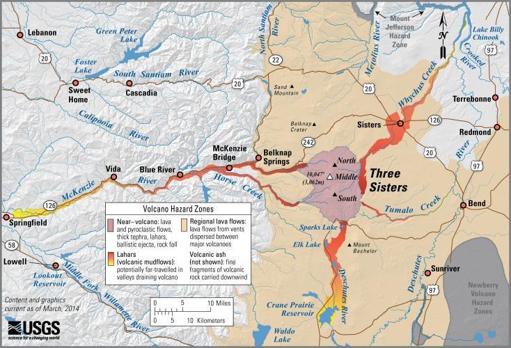 Cascades Volcano Observatory - Us volcano map