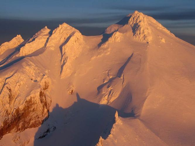 Upper west face of Glacier Peak, Washington.