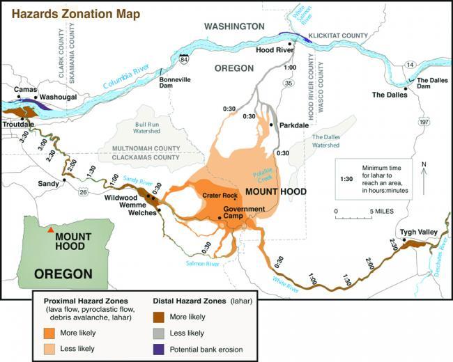 mount hood oregon map Usgs Volcano Hazards Program Cvo Mount Hood mount hood oregon map