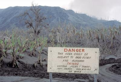 what is a mudflow caused by a volcanic eruption called
