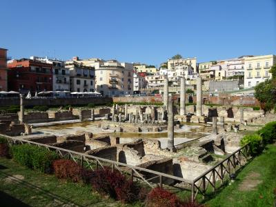 Serapeum, a Roman marketplace in the center of Pozzuoli, near Naples, Italy. (Click image to view full size.)