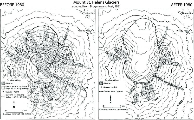 mount st helens maps and graphics