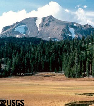 Photo of Lassen Peak, California and Kings Creek Meadows.
