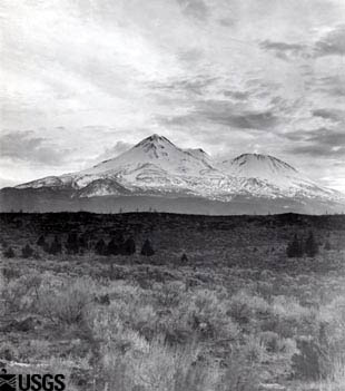 Mount Shasta with Shastina, 1900.