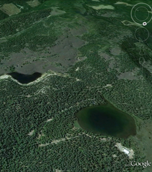 Google Earth image of the Silver Lake area.