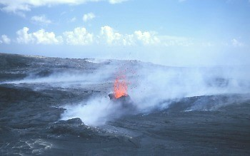 Small hornito forming on Kilauea Volcano, Hawai`i