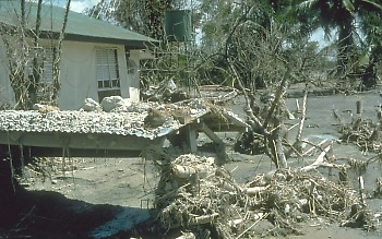 devastation caused by post-eruption lahars