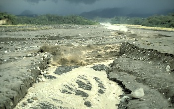 Photo of approaching lahar