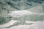 Lahar-dammed lake downstream from Mount Pinatubo, Philippines