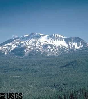Photo of Mammoth Mountain on the southwest rim of Long Valley Caldera.